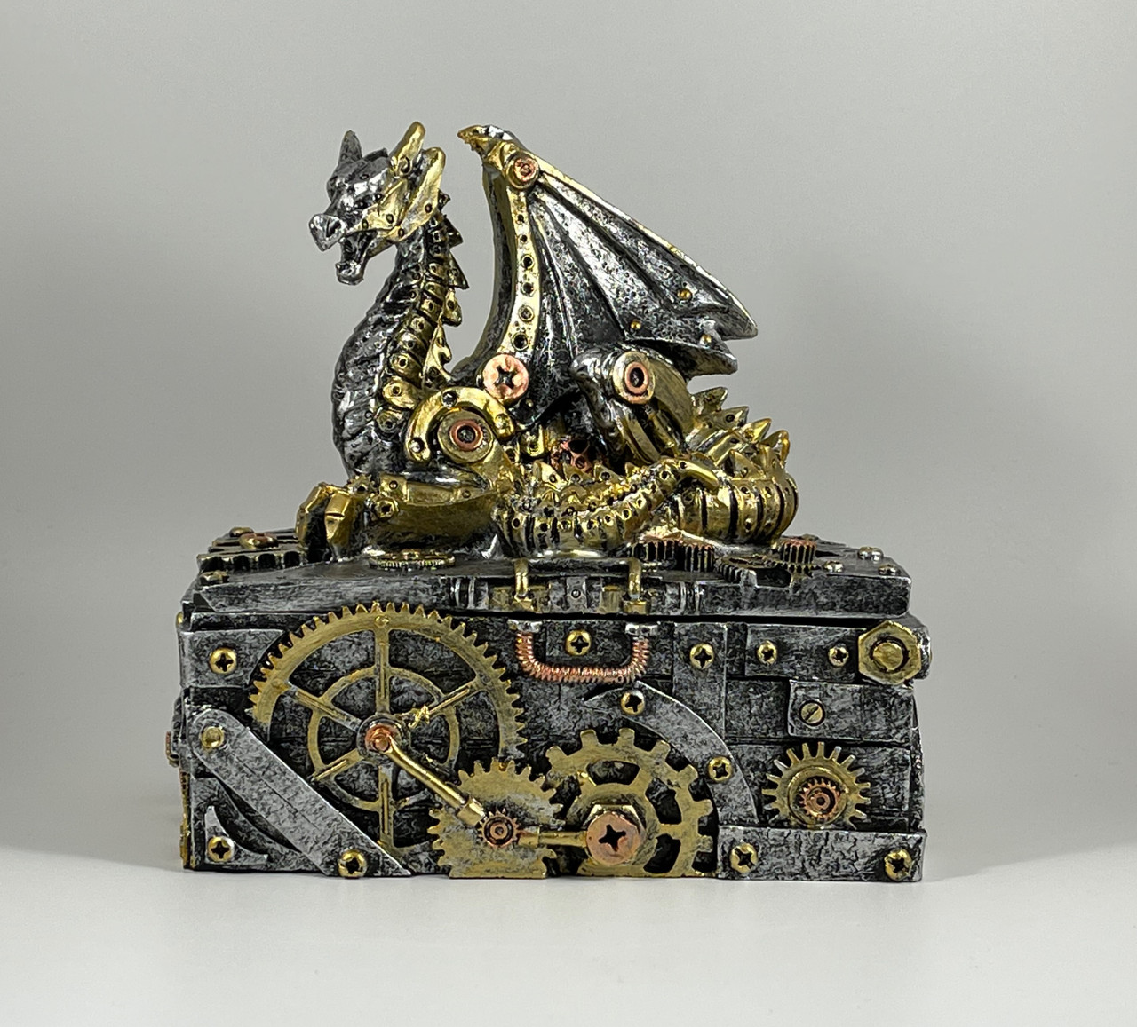 Steampunk Dragon Decorative Box