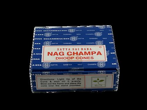 Satya Sai Baba Nag Champa Dhoop Cones - 12 pieces
