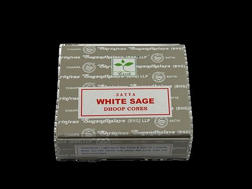 Satya White Sage Dhoop Cones 12 pieces
