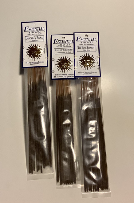 Buddhist Temple Escential Essences Incense - 16 Sticks