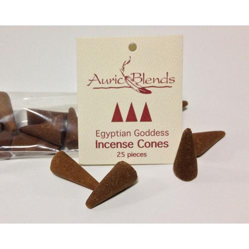 Egyptian Goddess Auric Blends Incense Cones Bag of 25