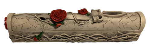 Rose and Dagger Coffin Style Incense Burner Holder