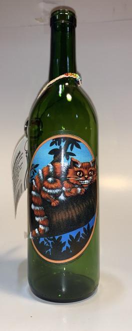 Incense stick burner bottle - Cheshire Cat design.