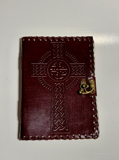 Leather Bound Journal Notebook Diary - Celtic Cross