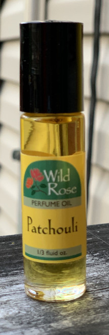 Patchouli Perfume Body Oil by Wild Rose 1/3 oz roll-on applicator.