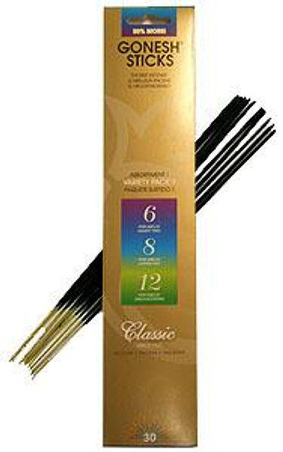 Gonesh Incense Classic Variety 1 (6,8,12)