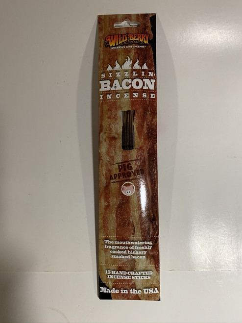 Sizzlin' Bacon Incense Sticks by Wild Berry