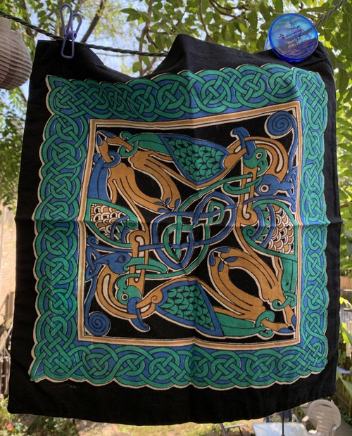 Celtic Swan Tote Shoulder Bag Cotton