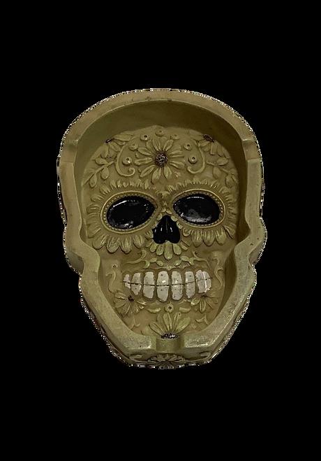 Sugar Skull Carved Ashtray