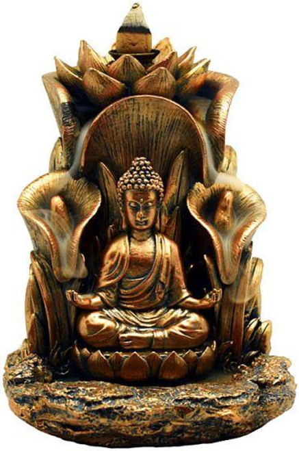 Golden Buddha Back-Flow Incense Cone Burner