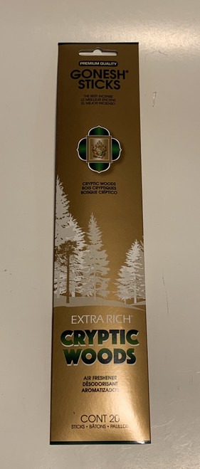 Cryptic Woods  Gonesh Incense Sticks 20 Pack