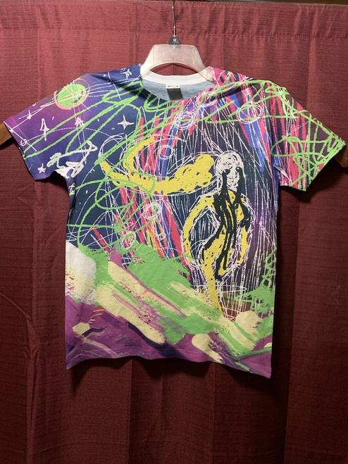 Storming Through Sublimation Black T-Shirt Original Artwork