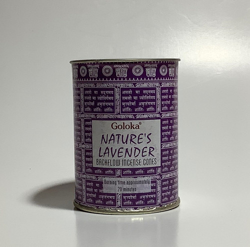 Goloka Backflow Incense Cones - Lavender