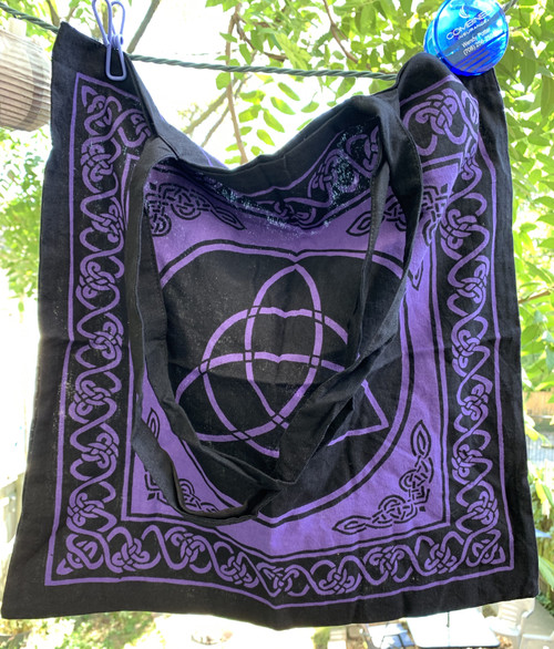 Triquetra (Charmed) Symbol Tote Shoulder Bag Cotton