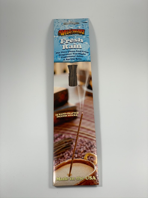 Fresh Rain Incense Sticks - Packaged by Wild Berry