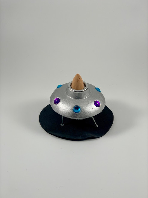 Small Flying Saucer Incense Cone Backflow Burner