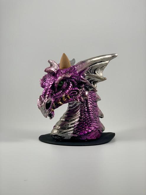 Purple Dragon Head Incense Burner - Backflow