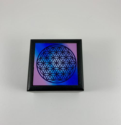 Flower of Life Velvet Lined Wooden Box