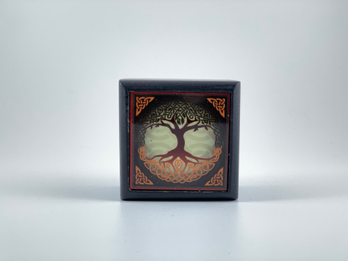 Tree of Life Velvet Lined Printed Clear Top Wooden Box