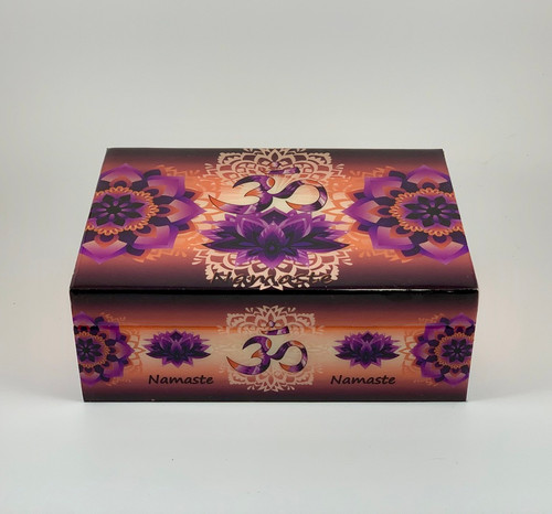 """OM Namaste Wood Box 5""""x7"""""""