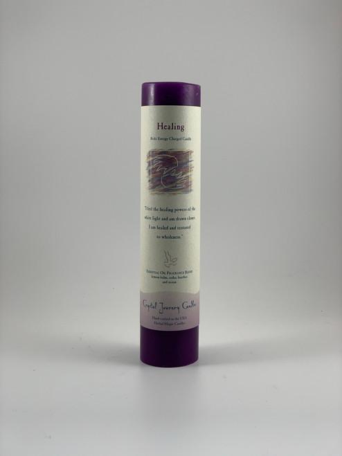 Healing Reiki Pillar Purple Candle
