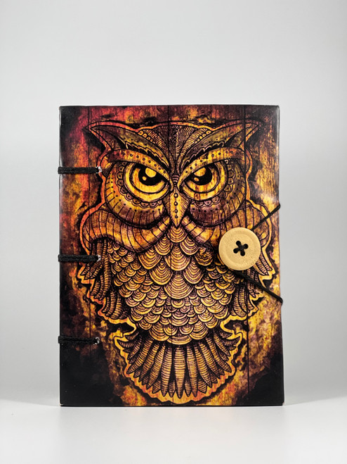 Golden Owl Handmade Paper Journal 5x7 inches