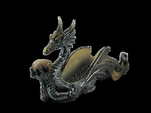 Dragon Holding a Skull Incense Burner Holder Ash Catcher