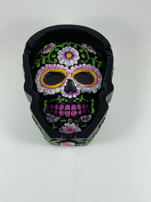 Polyresin Day of the Dead Sugar Skull Shape Ashtray