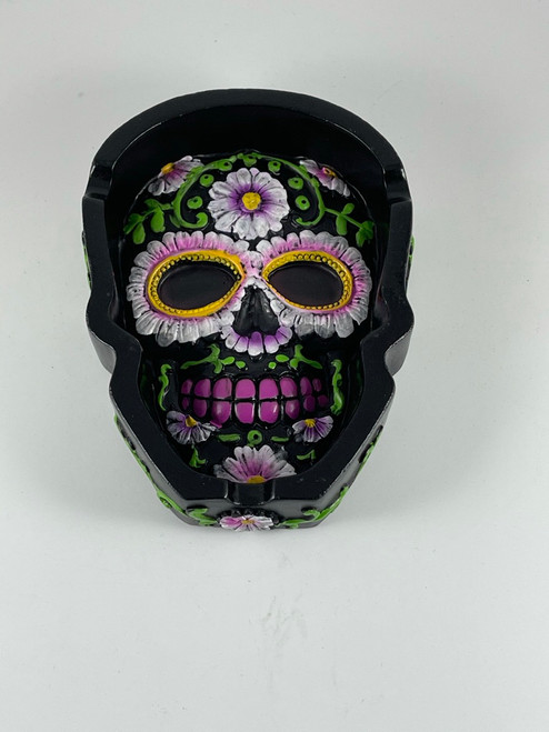 Polyresin Day of the Dead Sugar Skull Shape Ashtray