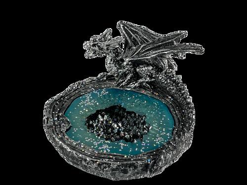 Silver Crystalized Dragon Ashtray
