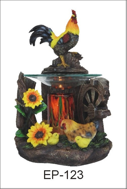 Rooster Polyresin Tart Scented Oil Fragrance Lamp night light.