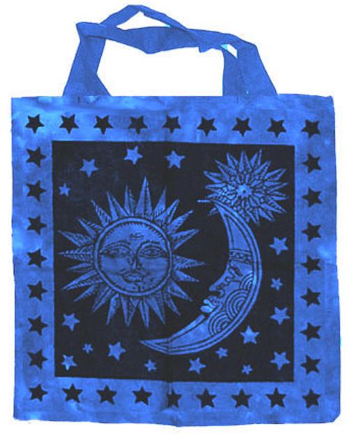 "Sun and Moon Cotton Tote Bag 18""x 18"""