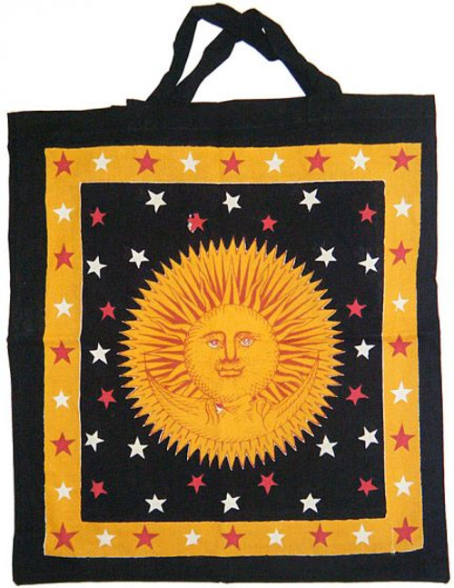 "Sun Gold Golden Cotton Tote Bag 18""x 18"""