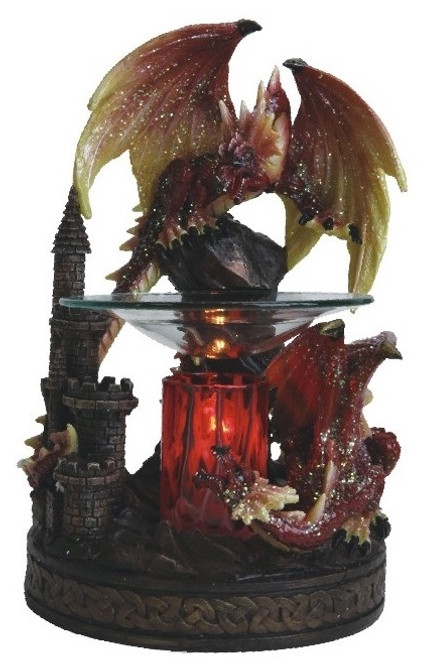 Red Dragon Poly Resin Essential Oil Fragrance Lamp