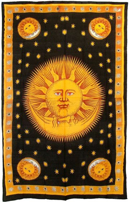 Sun God Bedspread Wall Hanging Tapestry