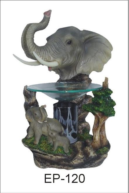 Elephant Polyresin Oil Burner Aroma Lamp Night Light