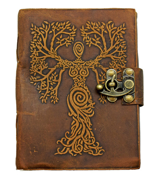 Tree of Life Woman Soft Leather Journal 5 x 7 inches