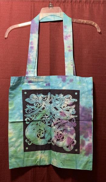 Celtic Dragon Tote Shoulder Bag Cotton