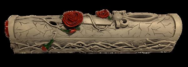 Rose and Dagger Coffin Style Incense Burner Holder