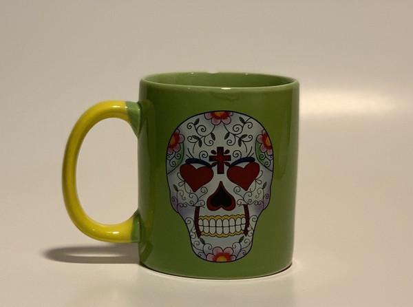 Sugar Skull Day of the Dead Ceramic Mug