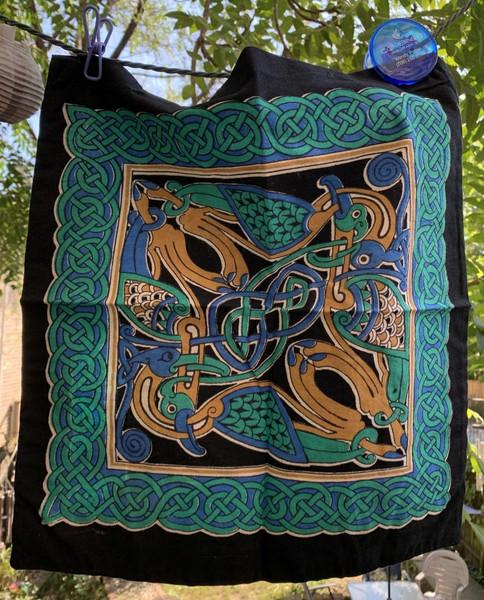 Celtic Swan Tote Shoulder Bag Cotton