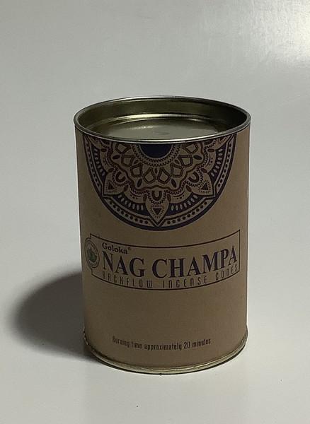 Goloka Backflow Incense Cones - Nag Champa
