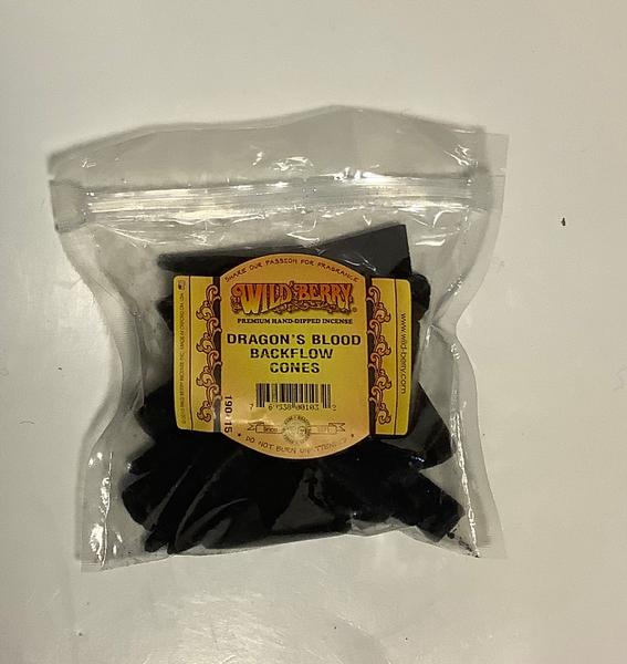 Wild Berry Dragon's Blood Backflow Incense Cones 25 per Packaage