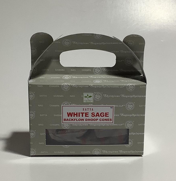 White Sage Satya Backflow Incense Cones