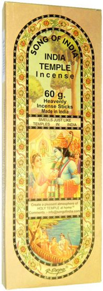 Song of India Temple Incense 60 Gram Box