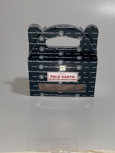 Satya Backflow Incense Cones - Palo Santo - 24 pieces