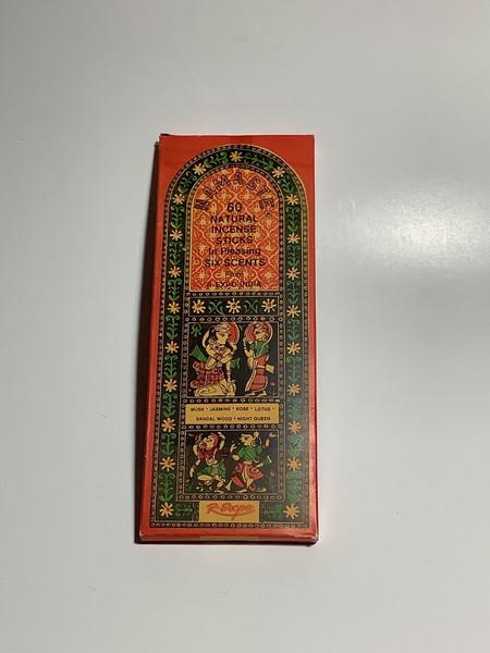 Song of India Namaste Natural Incense - 60 Sticks - Variety Pack