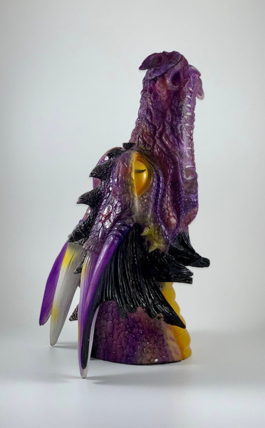 Purple Dragon Head Incense Burner