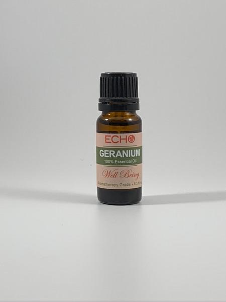 Echo - Geranium - Aromatherapy Essential Oil 1/3 Oz.