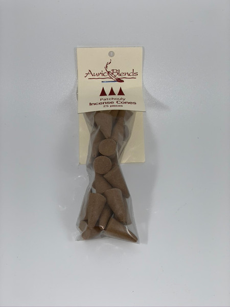 Patchouly Auric Blends Incense Cones Bag of 25